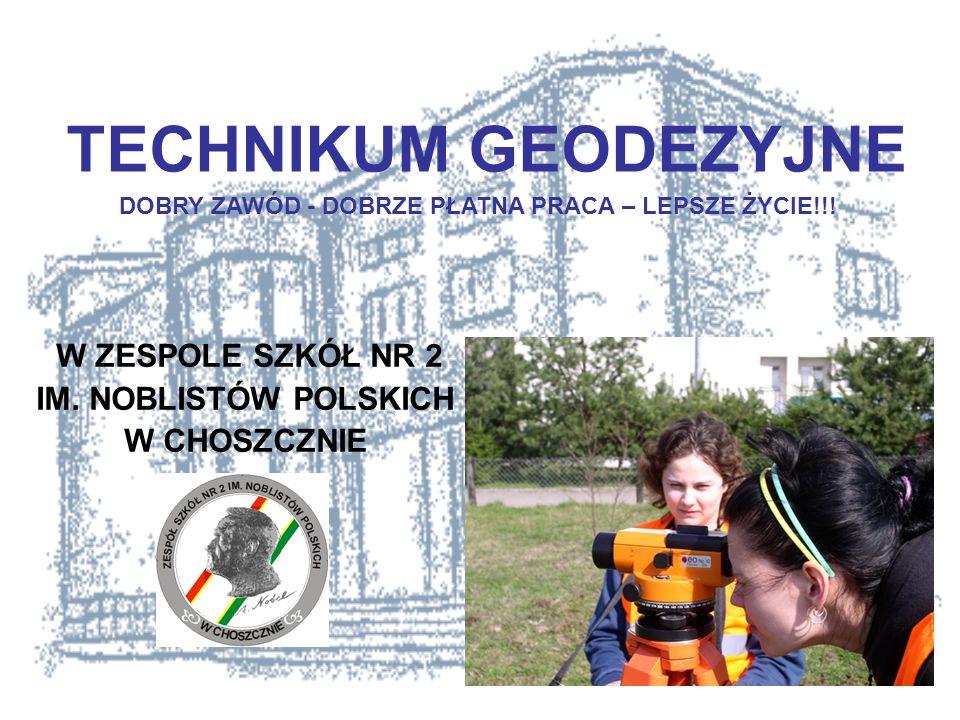 Nauka w technikum trwa 4 lata, kończy się maturą i egzaminem zawodowym nadającym tytuł technik geodeta.
