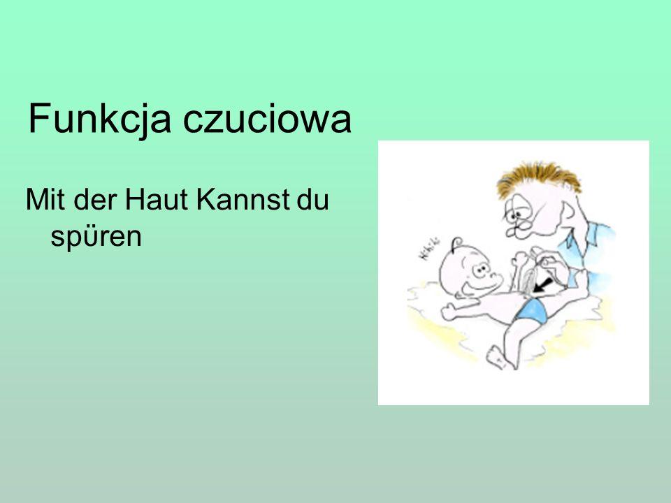 Funkcja czuciowa Mit der Haut Kannst du spϋren