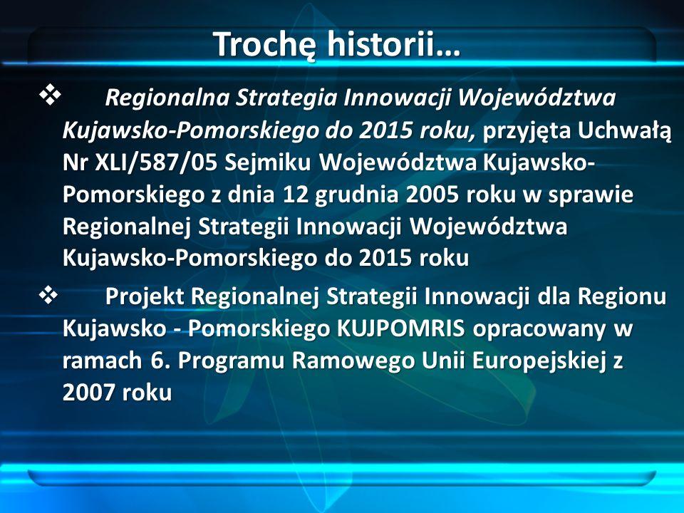 Regionalna Strategia Innowacji Województwa Kujawsko-Pomorskiego do 2015 roku, przyjęta Uchwałą Nr XLI/587/05 Sejmiku Województwa Kujawsko- Pomorskiego