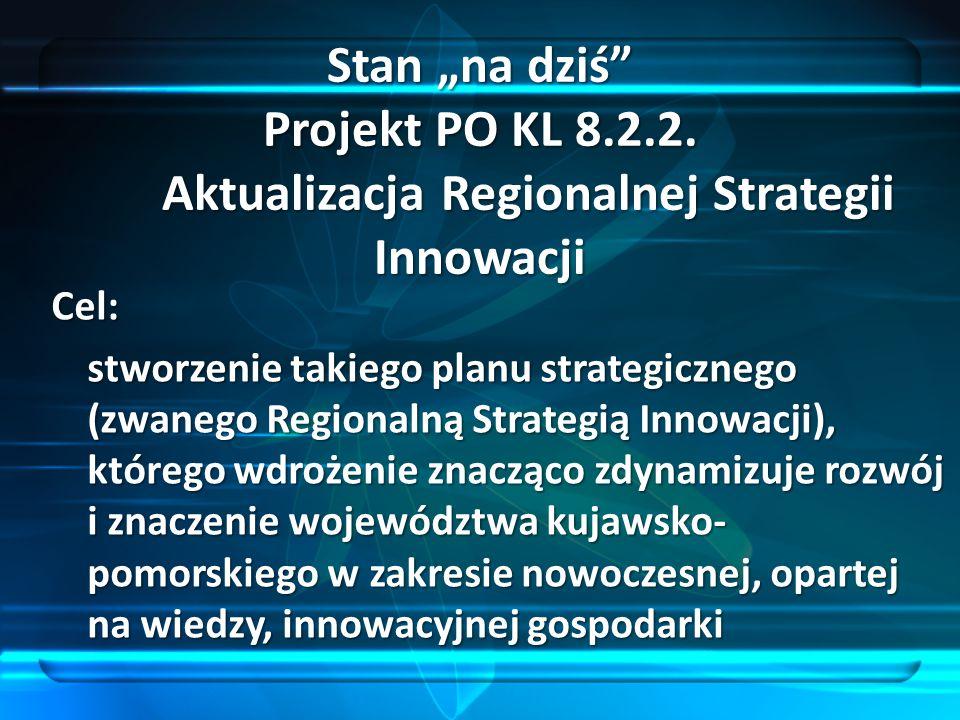 Cel: stworzenie takiego planu strategicznego (zwanego Regionalną Strategią Innowacji), którego wdrożenie znacząco zdynamizuje rozwój i znaczenie wojew