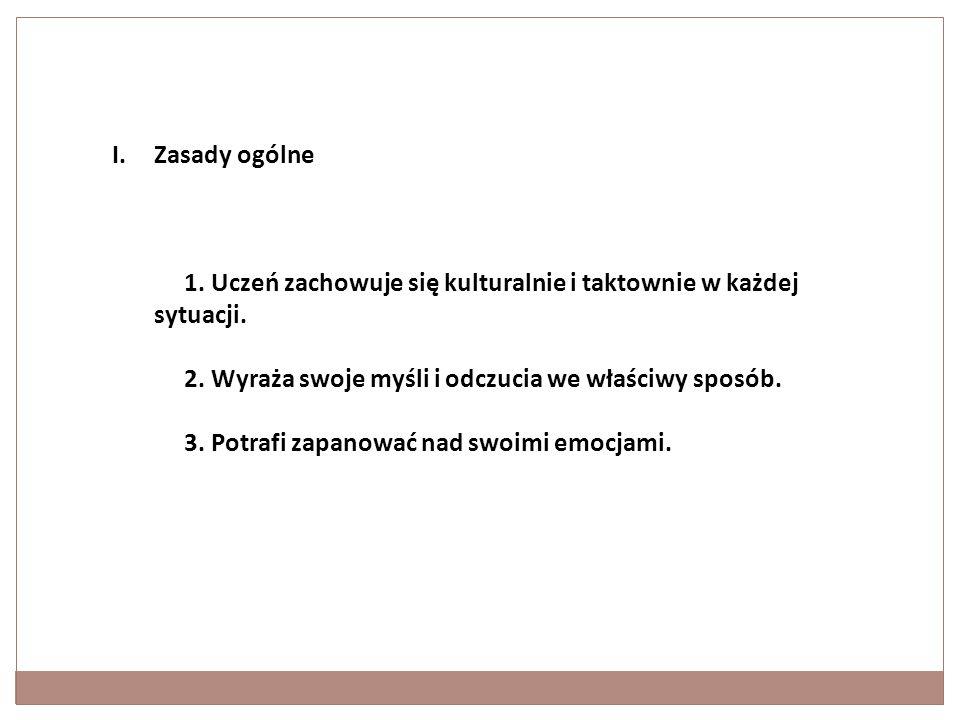 II. Zasady szczegółowe