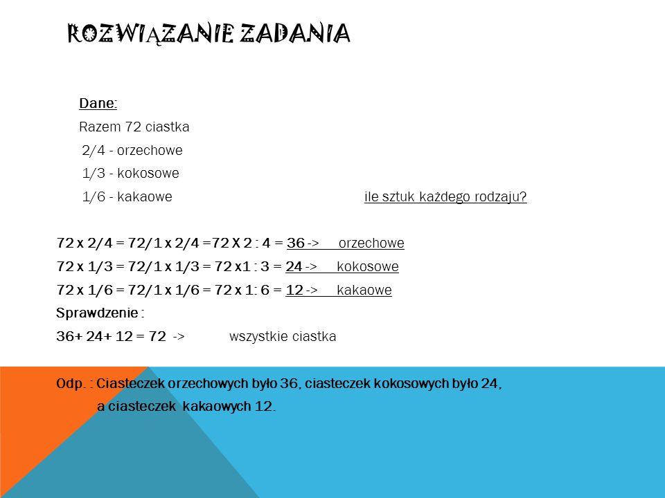 SOK Ż URAWINOWY Oriana zrobiła 24 litry soku żurawinowego.