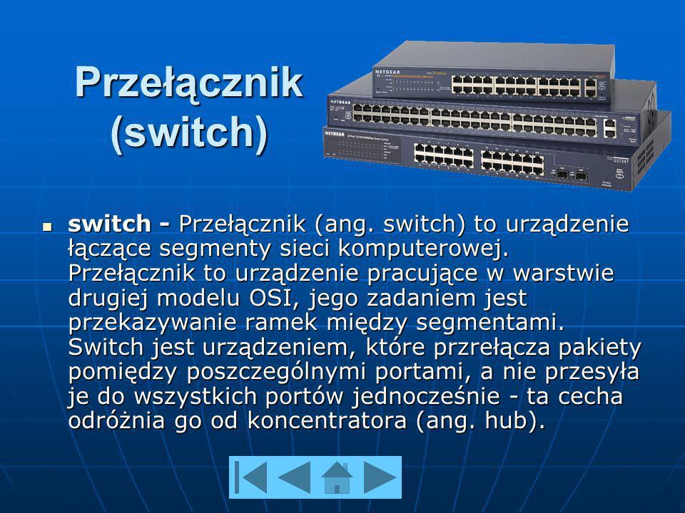 Przełącznik (switch) switch - Przełącznik (ang.