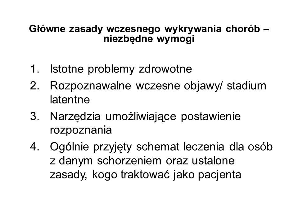 SŁOWNICZEK ZASTOSOWANYCH TERMINÓW I DEFINICJI Badanie przesiewowe (ang.