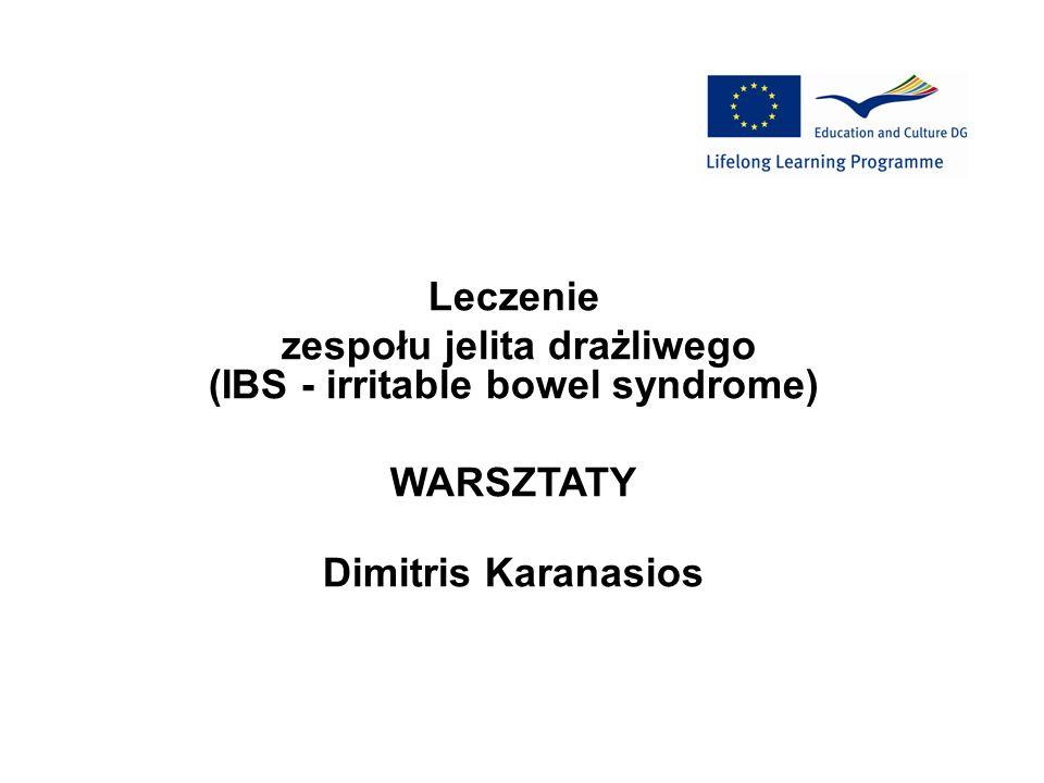 Leczenie zespołu jelita drażliwego (IBS - irritable bowel syndrome) WARSZTATY Dimitris Karanasios