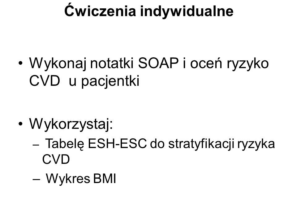 Ćwiczenia indywidualne Wykonaj notatki SOAP i oceń ryzyko CVD u ...