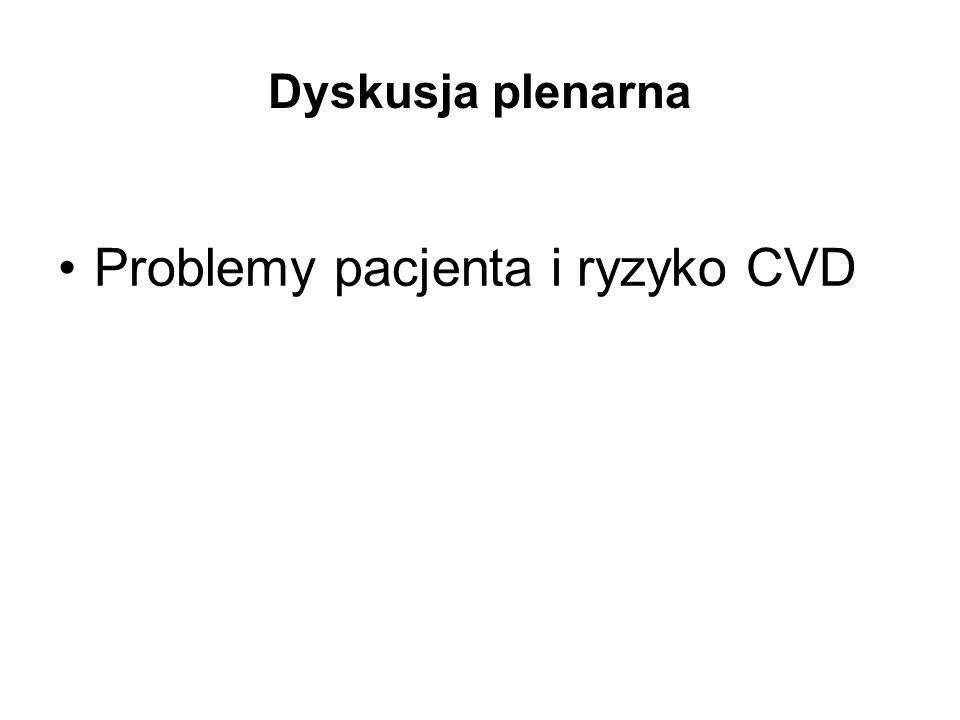 Dyskusja plenarna Problemy pacjenta i ryzyko CVD