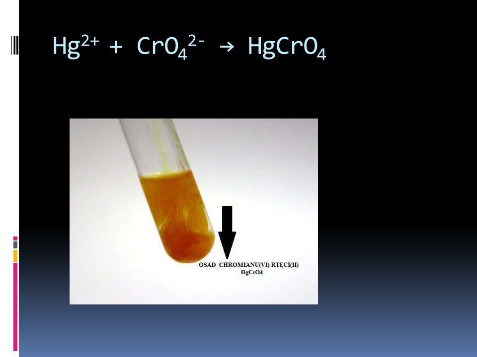 Hg 2+ + CrO 4 2- HgCrO 4