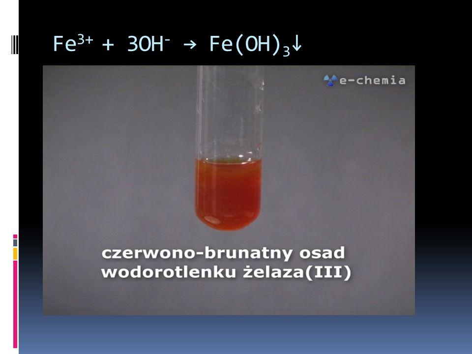 Fe 3+ + 3OH - Fe(OH) 3
