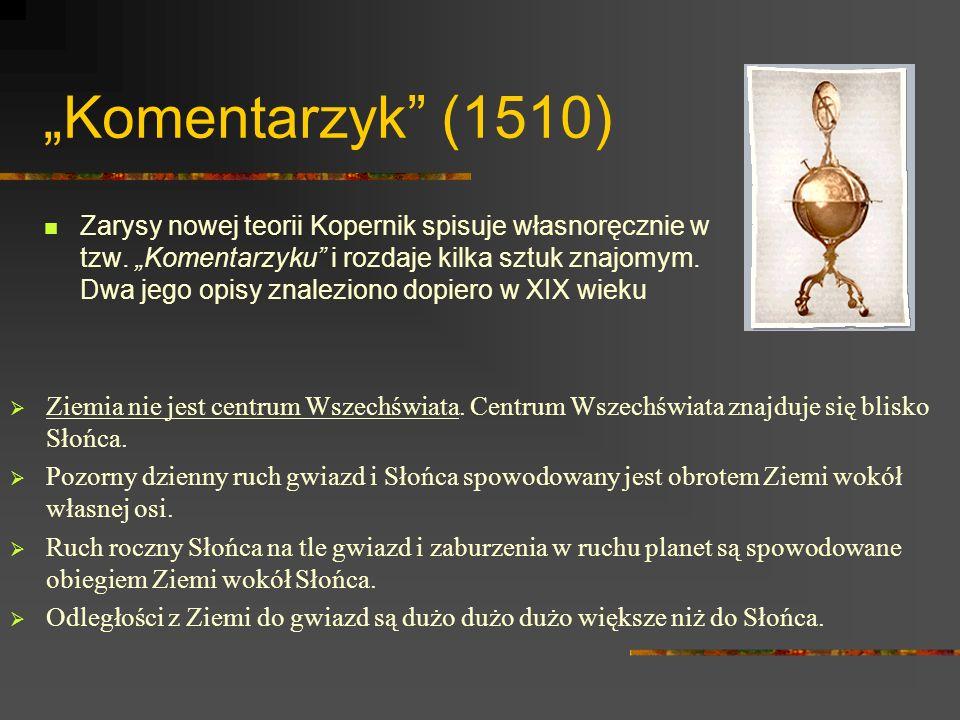 De Revolutionibus...Dzieło życia Kopernika.