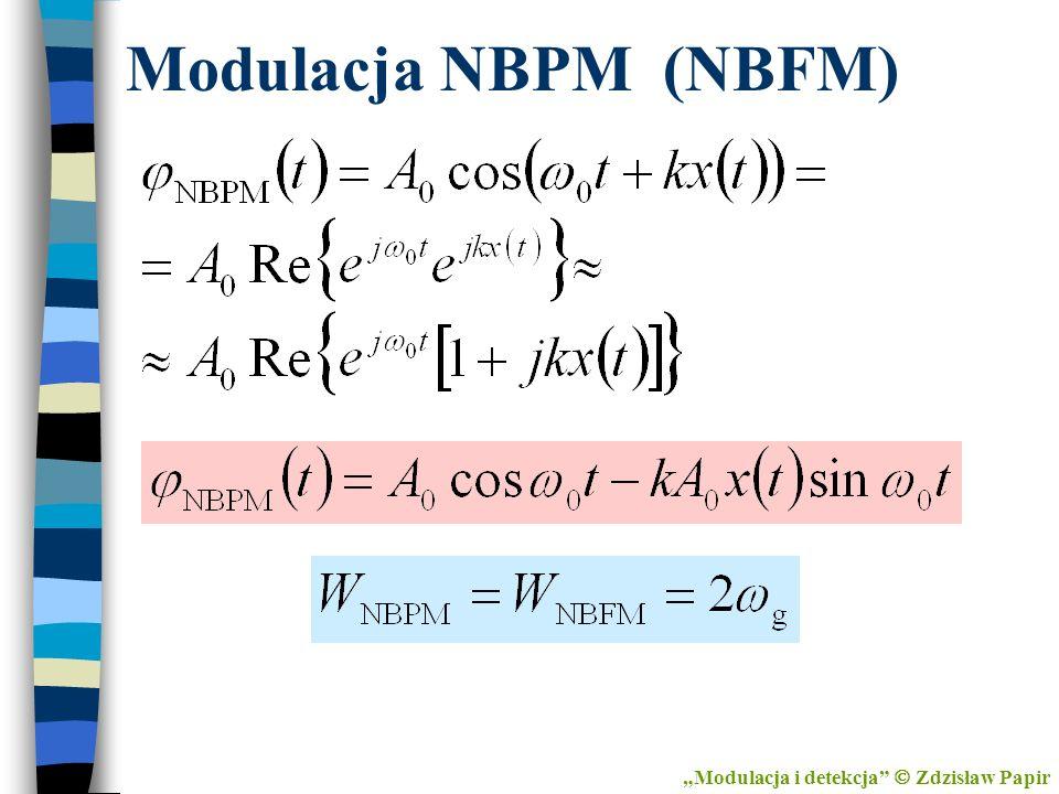 Modulacja NBPM (NBFM) Modulacja i detekcja Zdzisław Papir