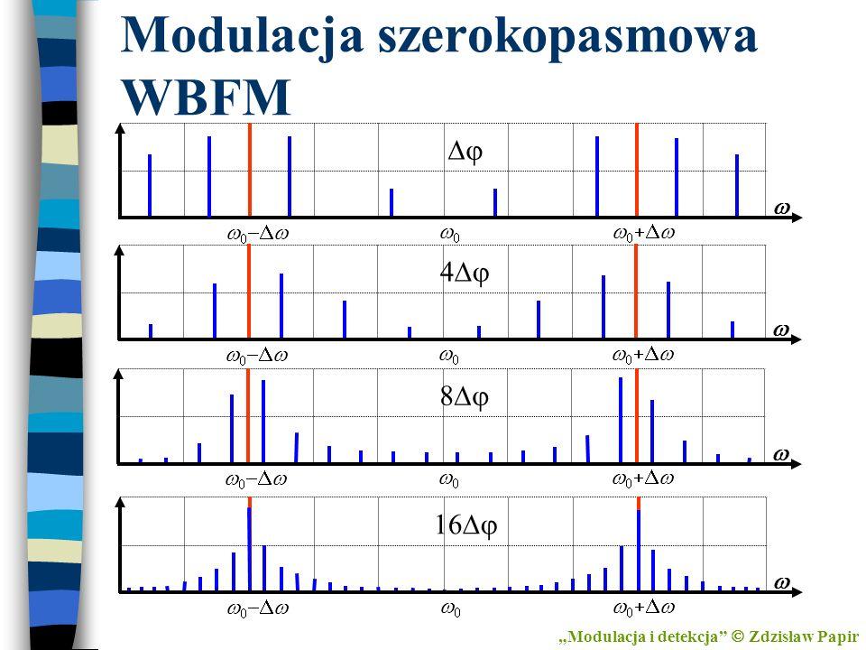 Modulacja szerokopasmowa WBFM Modulacja i detekcja Zdzisław Papir