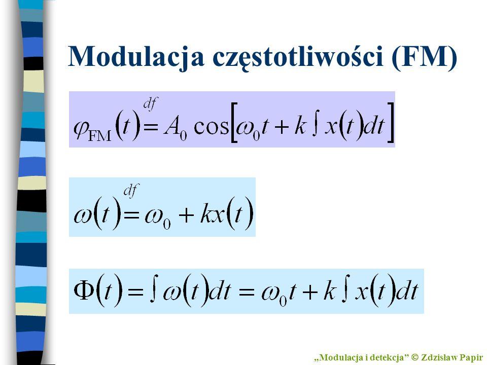 Modulacja częstotliwości (FM) Modulacja i detekcja Zdzisław Papir