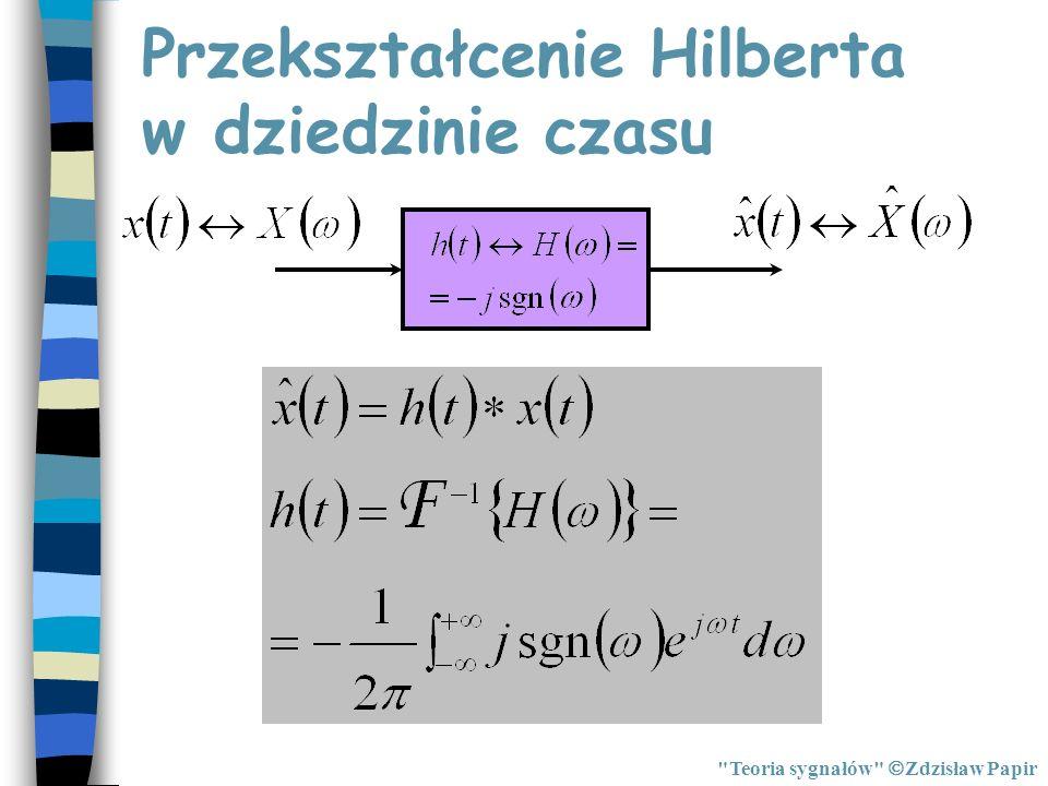 Przekształcenie Hilberta w dziedzinie czasu