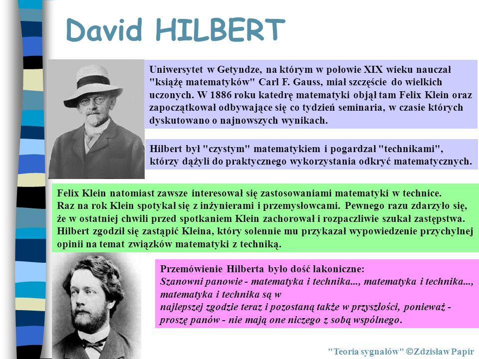 Transformaty Hilberta Teoria sygnałów Zdzisław Papir Sygnał x(t) jest sygnałem dolnopasmowym o szerokości widma g < 0.