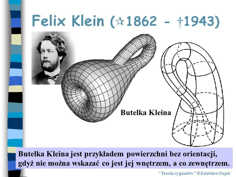 Podsumowanie Teoria sygnałów Zdzisław Papir Przekształcenie Hilberta nie zmienia ch-aki a-cz sygnału, natomiast wszystkie częstotliwości są przesuwane w fazie o - /2.