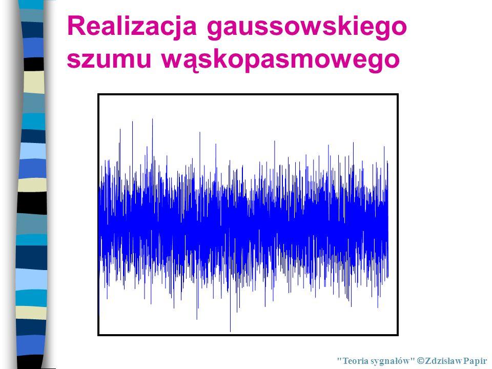 Realizacja gaussowskiego szumu wąskopasmowego