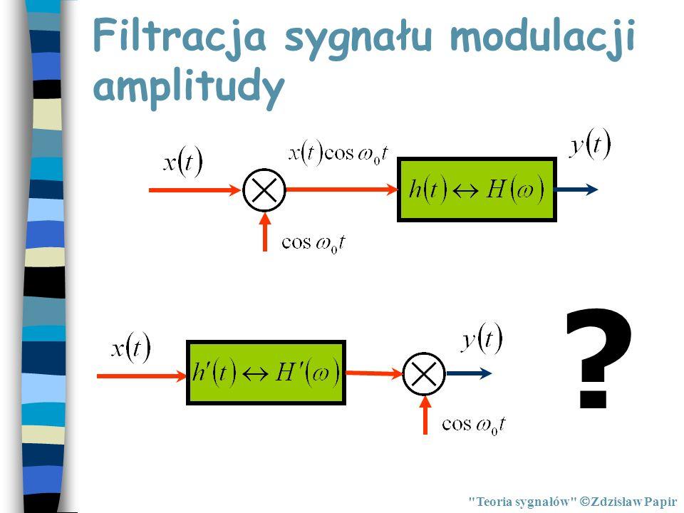 Filtracja sygnału modulacji amplitudy ?