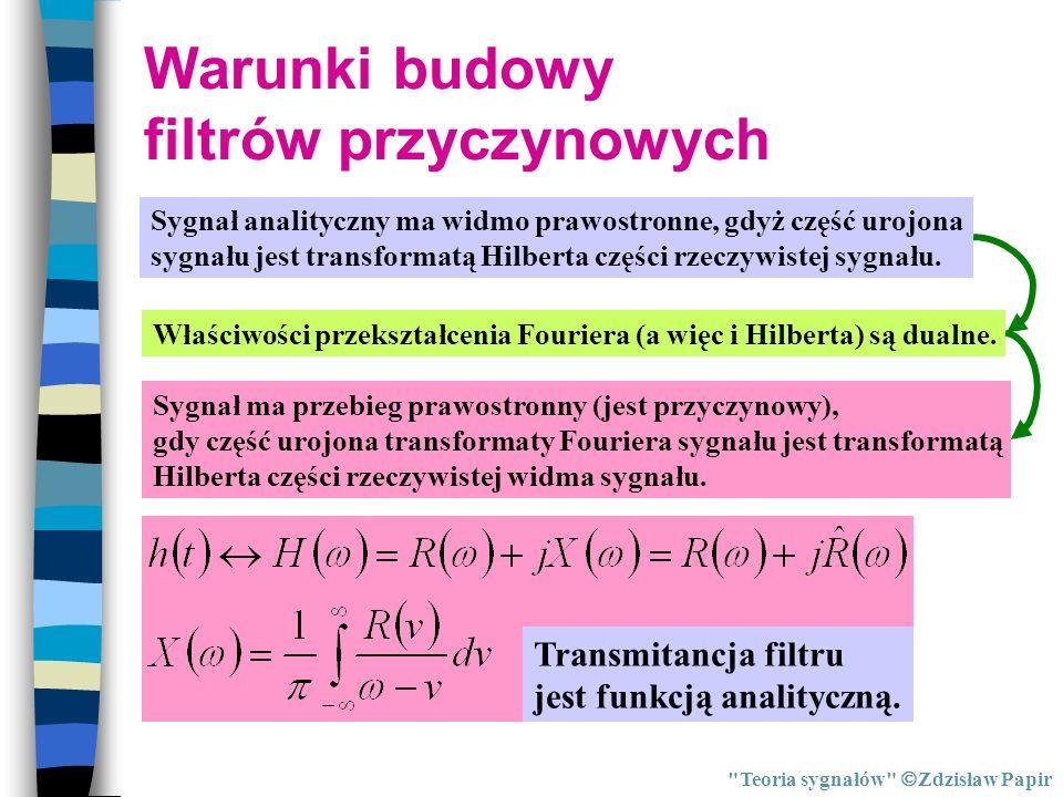 Warunki budowy filtrów przyczynowych