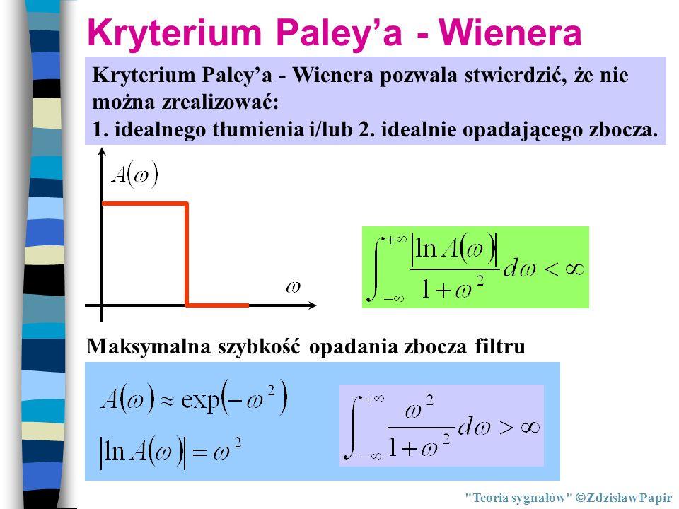 Kryterium Paleya - Wienera