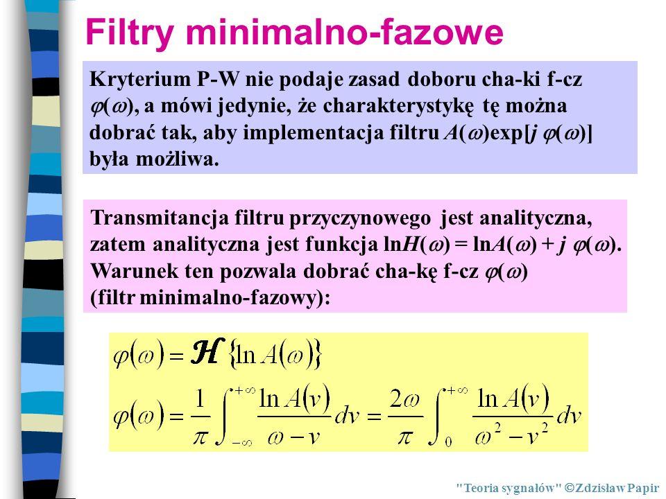 Filtry minimalno-fazowe