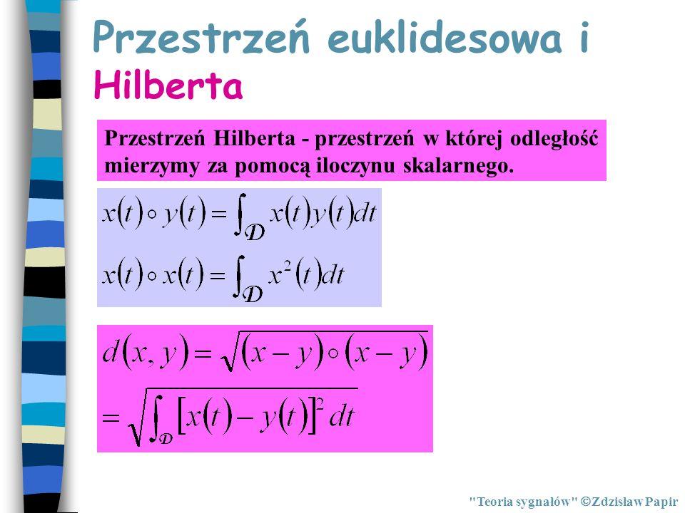 Zagadnienie najlepszej aproksymacji funkcji w przestrzeni Hilberta Teoria sygnałów Zdzisław Papir Szereg Fouriera