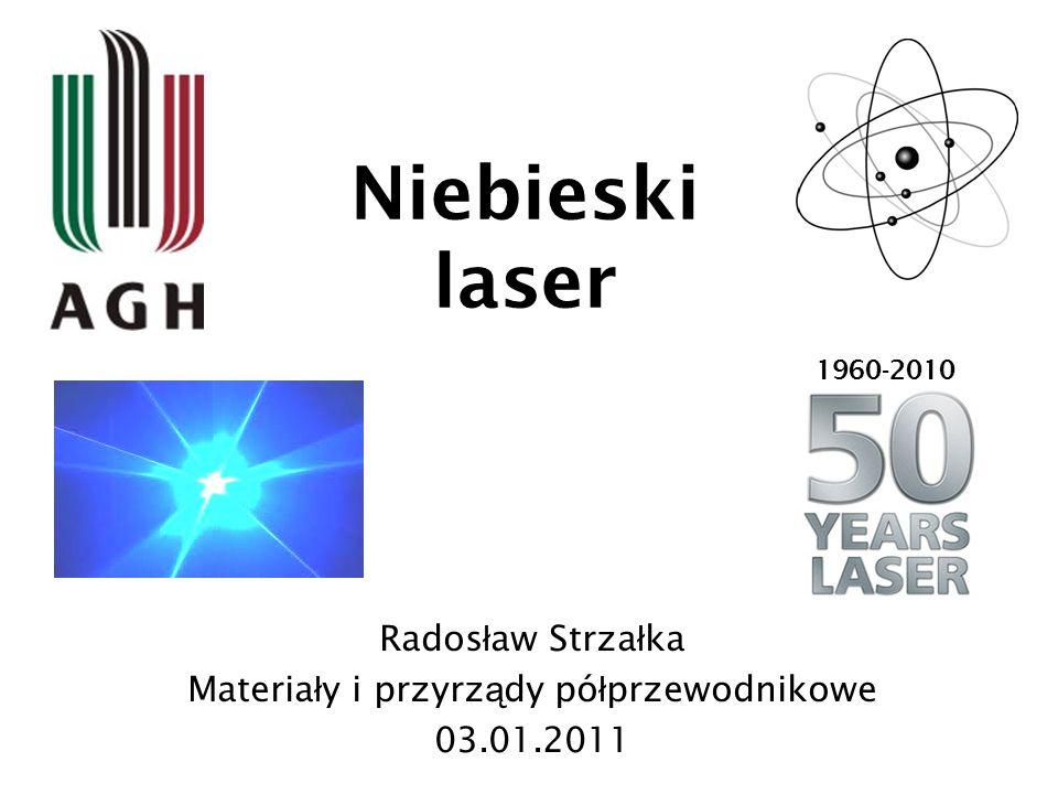 Niebieski laser Rados ł aw Strza ł ka Materia ł y i przyrz ą dy pó ł przewodnikowe 03.01.2011 1960-2010