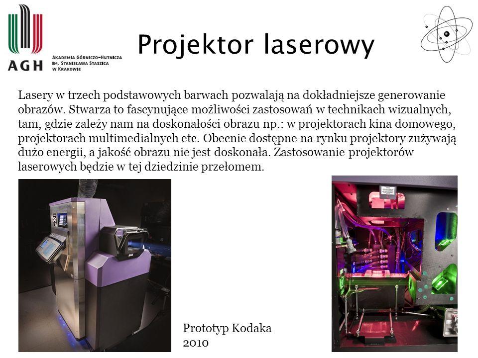 Projektor laserowy Lasery w trzech podstawowych barwach pozwalają na dokładniejsze generowanie obrazów. Stwarza to fascynujące możliwości zastosowań w