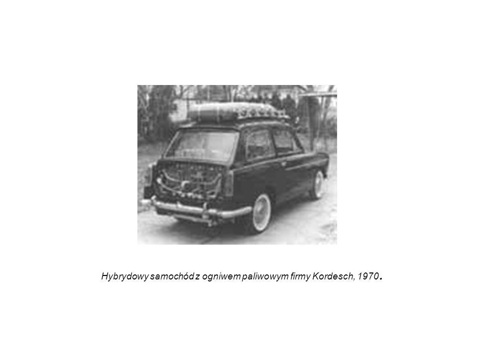 Hybrydowy samochód z ogniwem paliwowym firmy Kordesch, 1970.