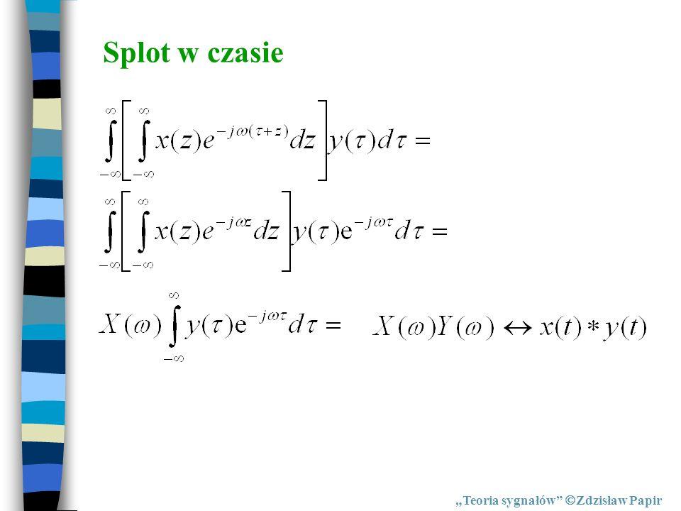 Splot w czasie Teoria sygnałów Zdzisław Papir