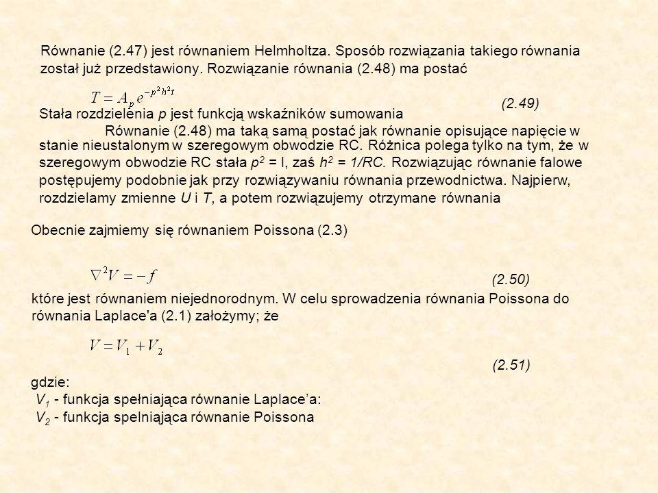 Równanie (2.47) jest równaniem Helmholtza.