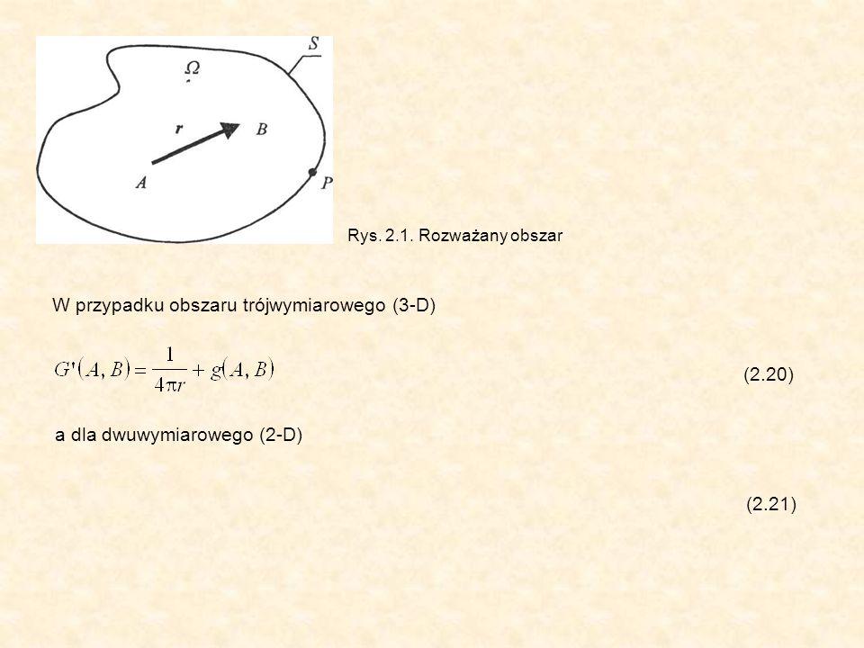 Rozwiązanie równania Laplace a sprowadzono w ten sposób do rozwiązania układu równań (2.128a).