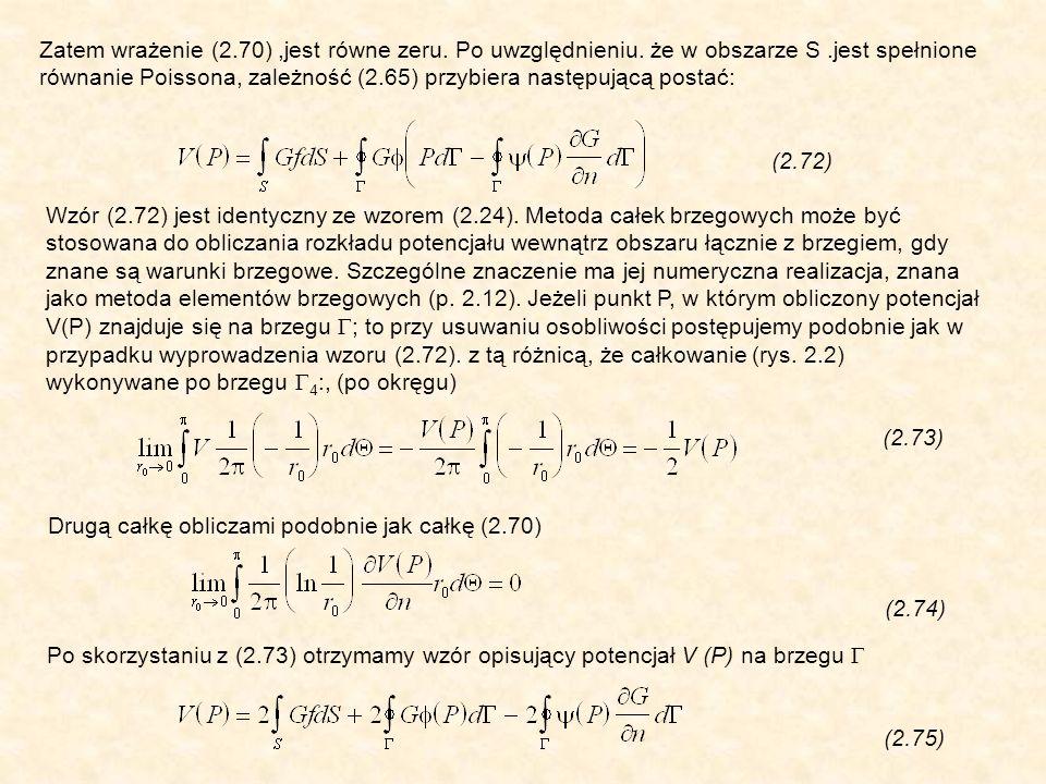 Zatem wrażenie (2.70),jest równe zeru. Po uwzględnieniu.