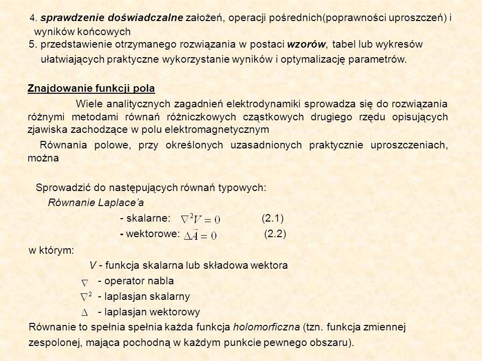 4. sprawdzenie doświadczalne założeń, operacji pośrednich(poprawności uproszczeń) i wyników końcowych 5. przedstawienie otrzymanego rozwiązania w post