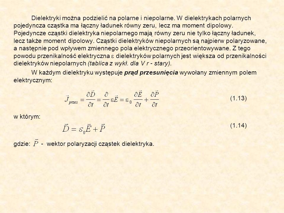 Dielektryki można podzielić na polarne i niepolarne. W dielektrykach polarnych pojedyncza cząstka ma łączny ładunek równy zeru, lecz ma moment dipolow