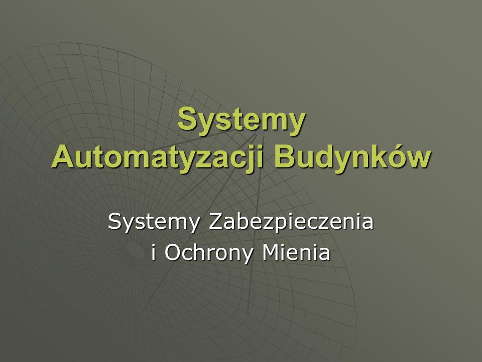 Systemy Zabezpieczania i Ochrony Mienia Telewizyjny system nadzoru (CCTV) Zespół telewizyjnych środków technicznych oraz programowych przeznaczonych do obserwacji, wykrywania i sygnalizowania, rejestrowania zagrożenia Zespół telewizyjnych środków technicznych oraz programowych przeznaczonych do obserwacji, wykrywania i sygnalizowania, rejestrowania zagrożenia Składniki systemu (występują w wersjach analogowych i cyfrowych): Składniki systemu (występują w wersjach analogowych i cyfrowych): kamerykamery monitorymonitory przełączniki wizji i dzielniki obrazuprzełączniki wizji i dzielniki obrazu urządzenie archiwizacyjne (magnetowid poklatkowy)urządzenie archiwizacyjne (magnetowid poklatkowy) cyfrowe krosowanie sygnałów wizyjnychcyfrowe krosowanie sygnałów wizyjnych centrale wizyjnecentrale wizyjne