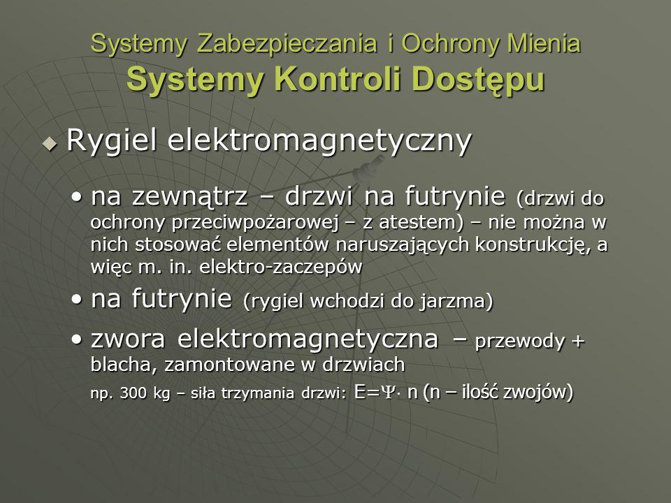 Systemy Zabezpieczania i Ochrony Mienia Systemy Kontroli Dostępu Rygiel elektromagnetyczny Rygiel elektromagnetyczny na zewnątrz – drzwi na futrynie (