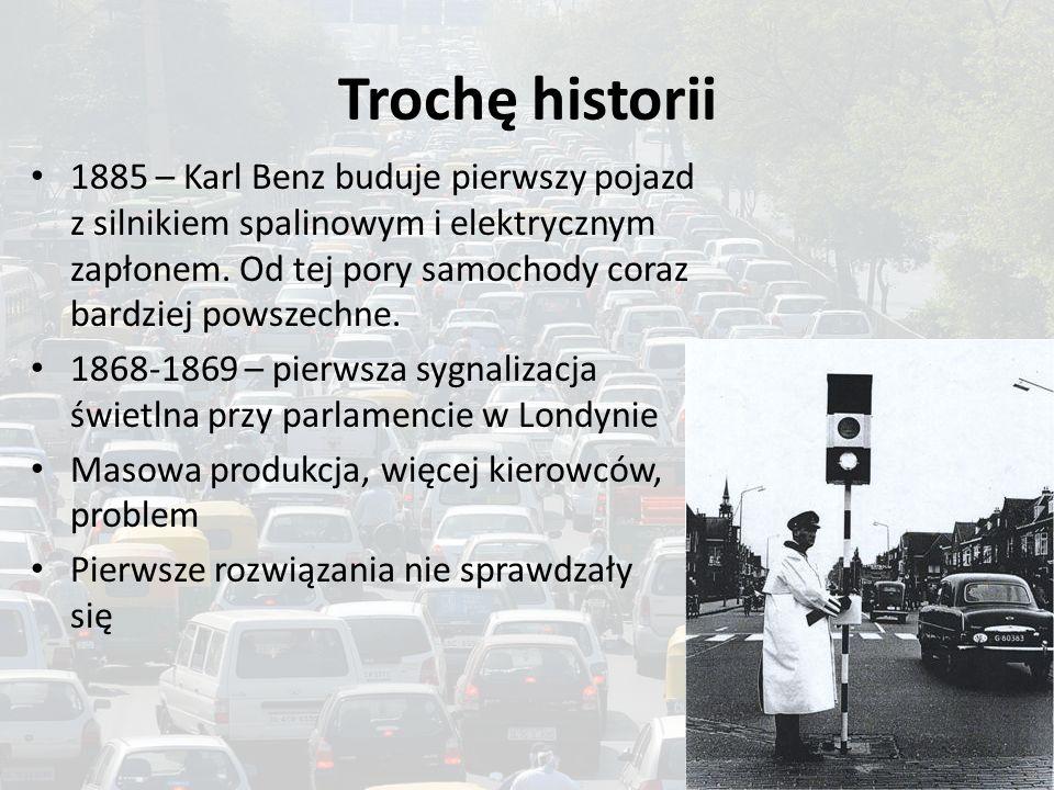 Trochę historii 1885 – Karl Benz buduje pierwszy pojazd z silnikiem spalinowym i elektrycznym zapłonem. Od tej pory samochody coraz bardziej powszechn
