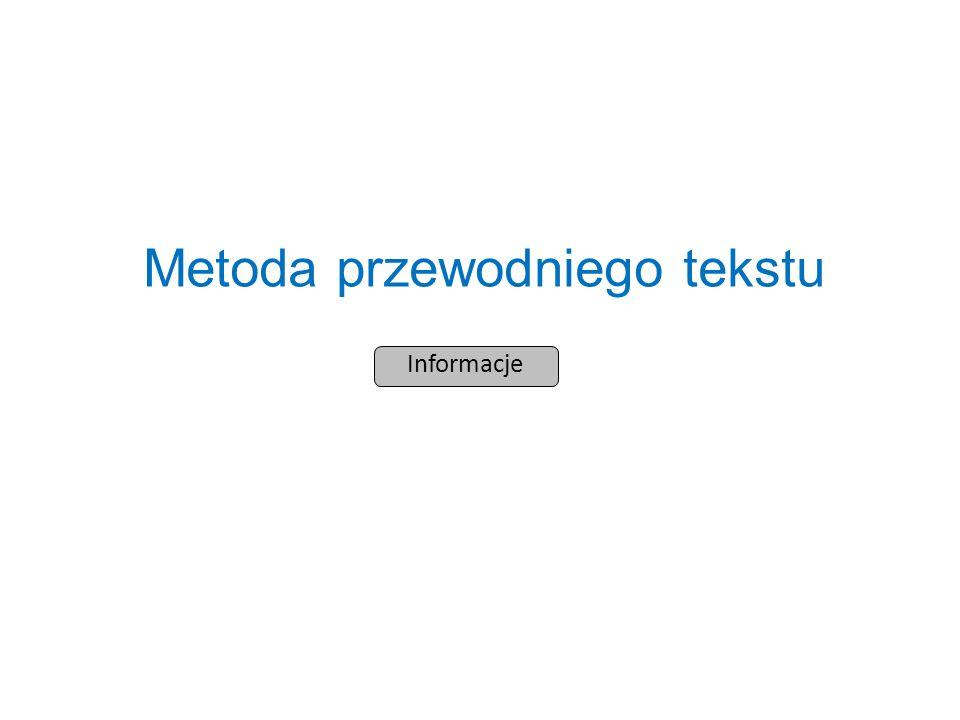 Informacje Metoda przewodniego tekstu