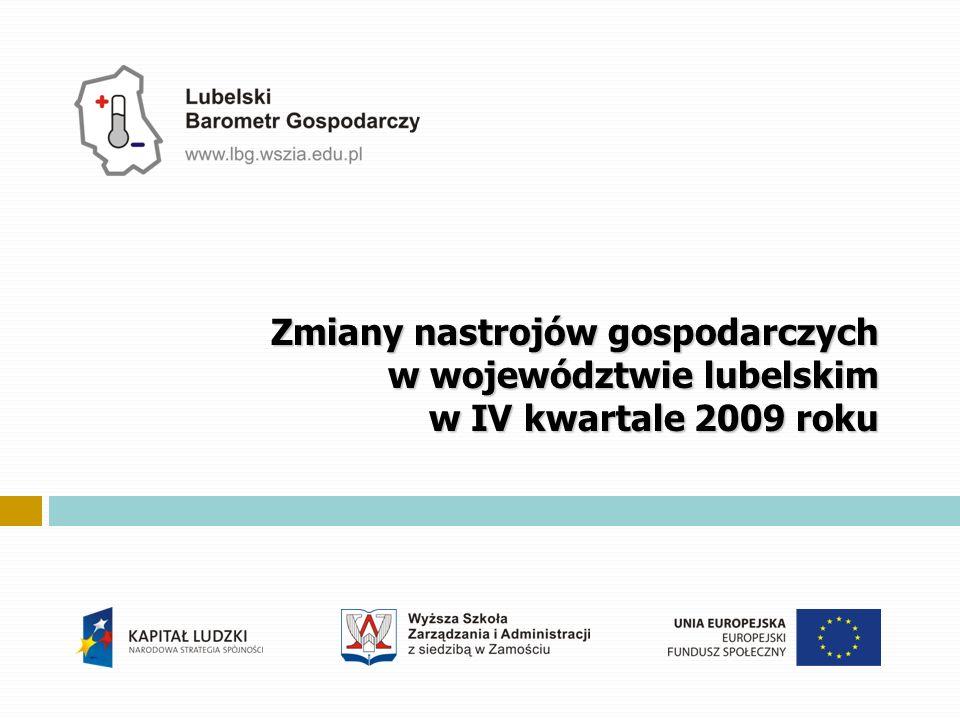Zmiany nastrojów gospodarczych w województwie lubelskim w IV kwartale 2009 roku