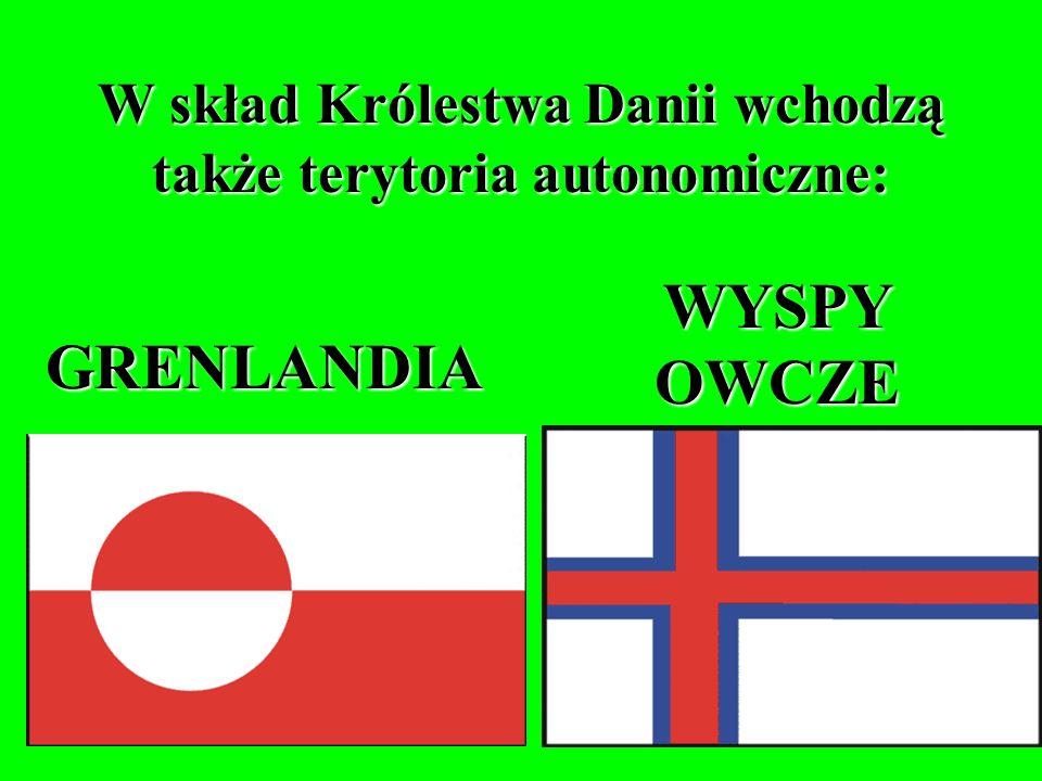 W skład Danii wchodzi ponadto 475 wysp na obszarze Cieśnin Duńskich (w tym 100 zamieszkałych).