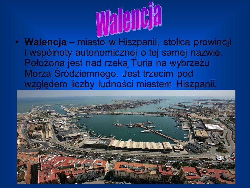 Walencja – miasto w Hiszpanii, stolica prowincji i wspólnoty autonomicznej o tej samej nazwie. Położona jest nad rzeką Turia na wybrzeżu Morza Śródzie