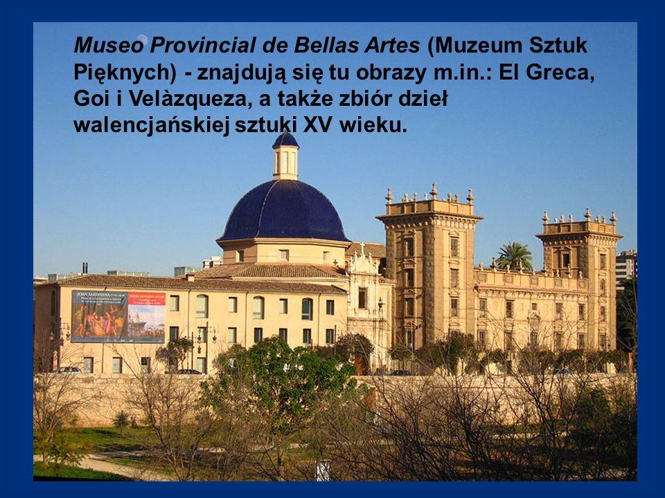 Museo Provincial de Bellas Artes (Muzeum Sztuk Pięknych) - znajdują się tu obrazy m.in.: El Greca, Goi i Velàzqueza, a także zbiór dzieł walencjańskie