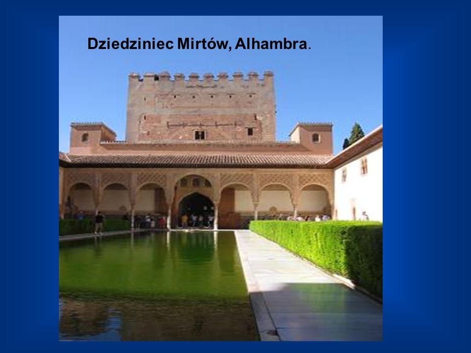 Dziedziniec Mirtów, Alhambra.