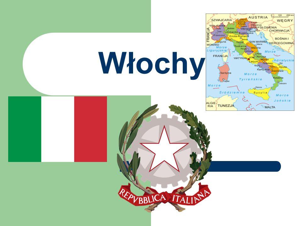 Ogólne wiadomości… Włochy Włochy znajdują się na Półwyspie Apenińskim, który głęboko wcina się w Morze Śródziemne.