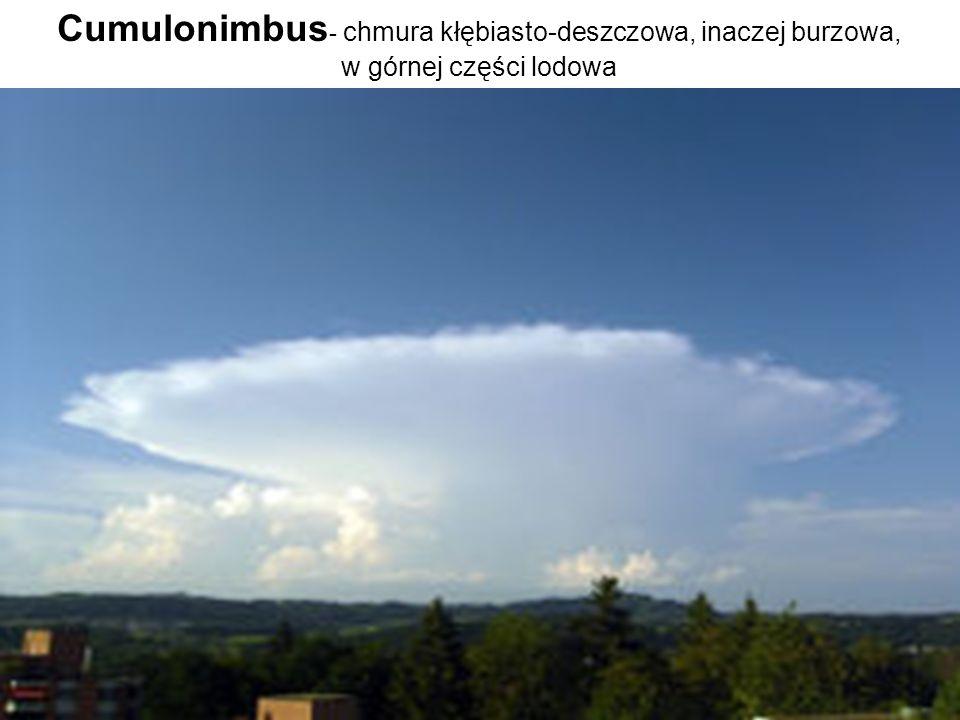 Cumulonimbus - chmura kłębiasto-deszczowa, inaczej burzowa, w górnej części lodowa