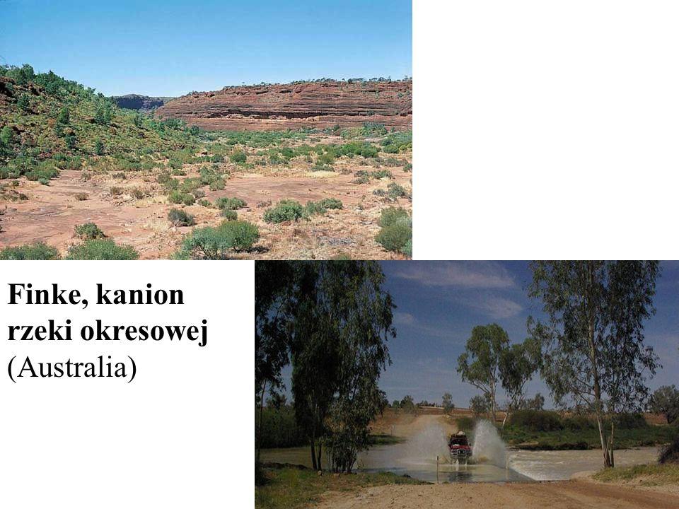 Finke, kanion rzeki okresowej (Australia)