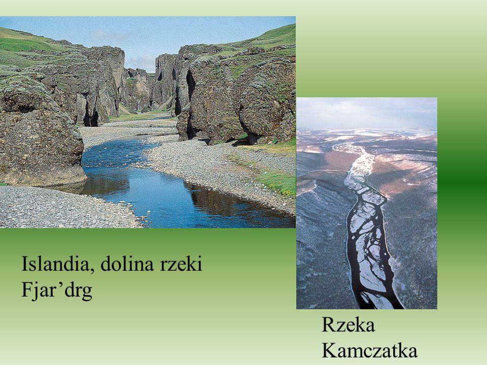 Rzeka Kamczatka Islandia, dolina rzeki Fjardrg
