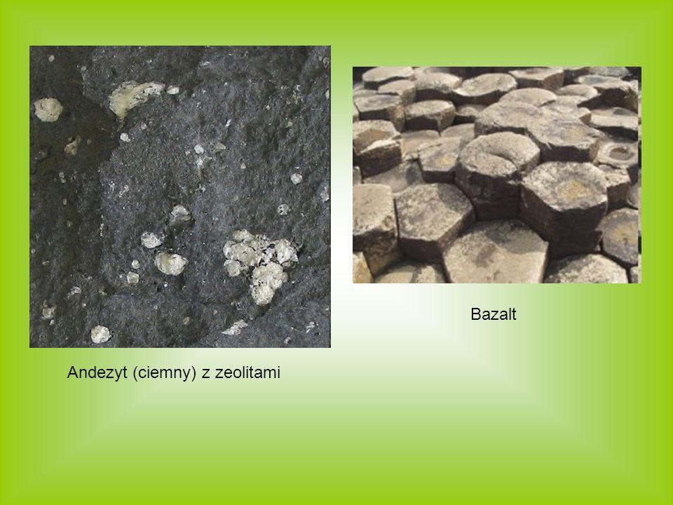 Andezyt (ciemny) z zeolitami Bazalt