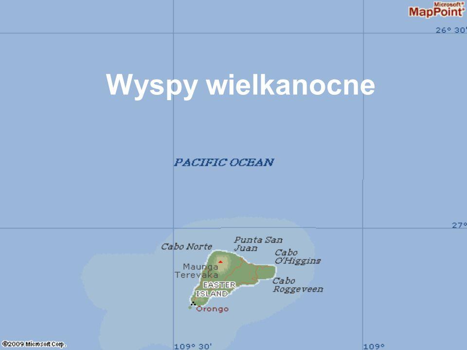 Widok na Ptasie Wyspy z Orongo.